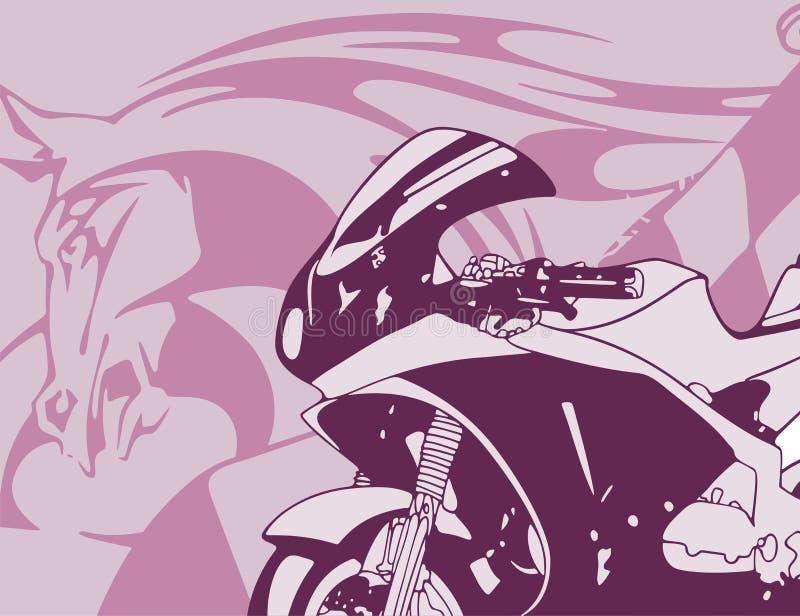 μοτοσικλέτα ανασκόπηση&sigmaf ελεύθερη απεικόνιση δικαιώματος