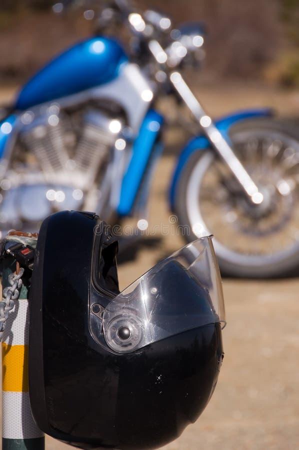 μοτοσικλέτα κρανών στοκ φωτογραφία
