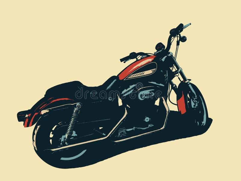 Μοτοσικλέτα που απομονώνεται κλασική r ελεύθερη απεικόνιση δικαιώματος