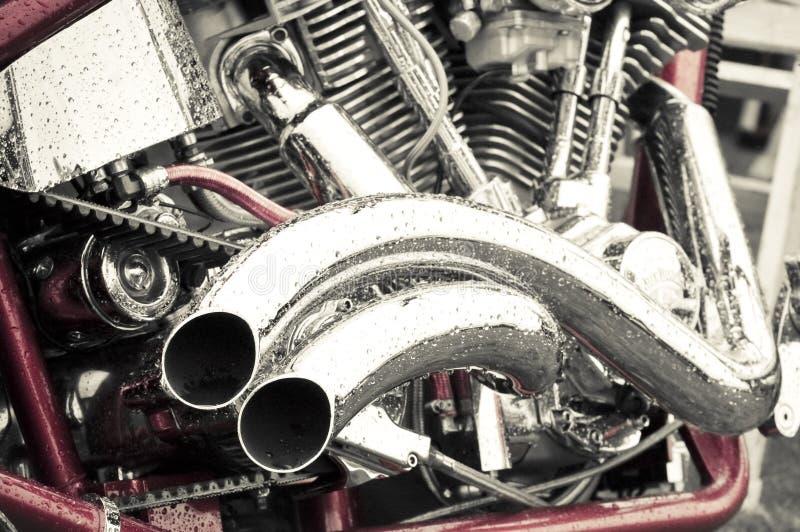 μοτοσικλέτα χρωμίου στοκ φωτογραφία με δικαίωμα ελεύθερης χρήσης