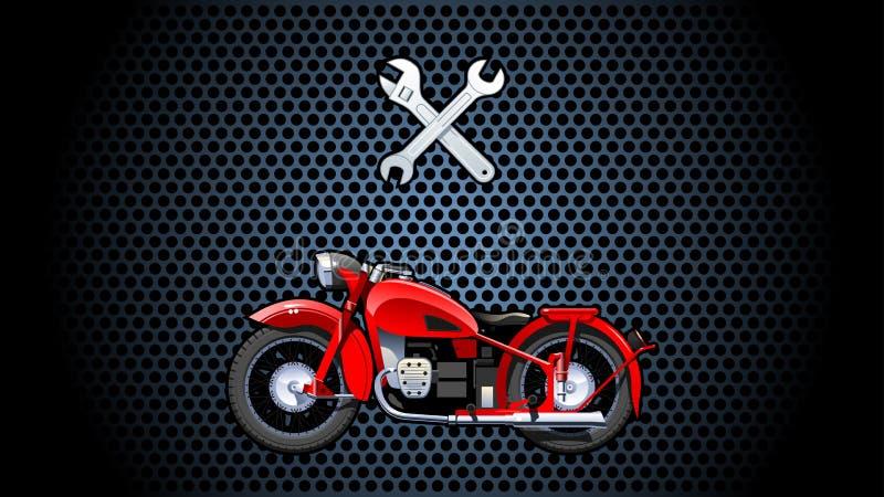 Μοτοσικλέτα. απεικόνιση αποθεμάτων