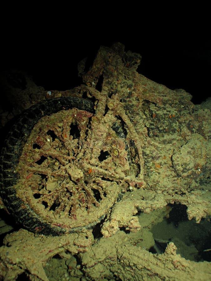 Download Μοτοσικλέτες από τα συντρίμμια SS Thistlegorm Στοκ Εικόνες - εικόνα από μοτοσικλέτα, σκάφανδρο: 22793936