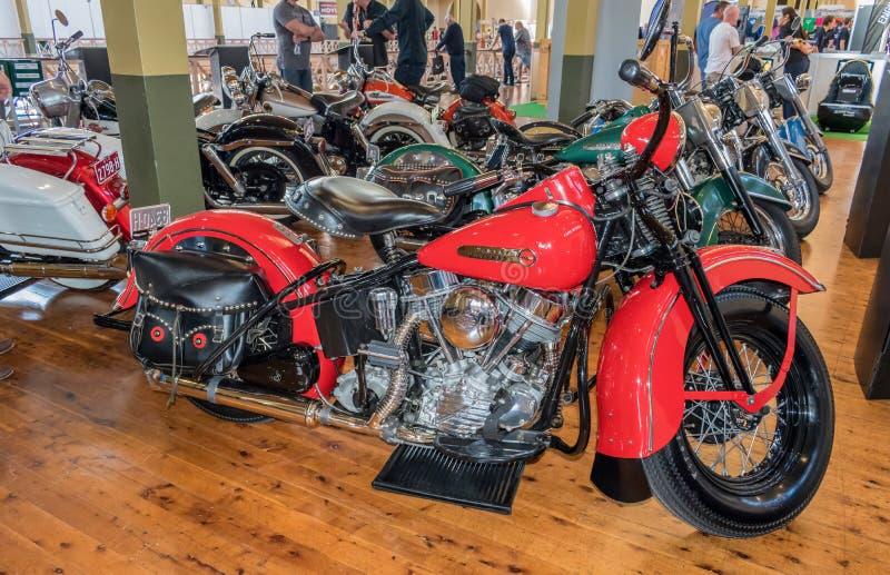 Μοτοσικλέτες του Harley Davidson σε Motorclassica στοκ φωτογραφία με δικαίωμα ελεύθερης χρήσης
