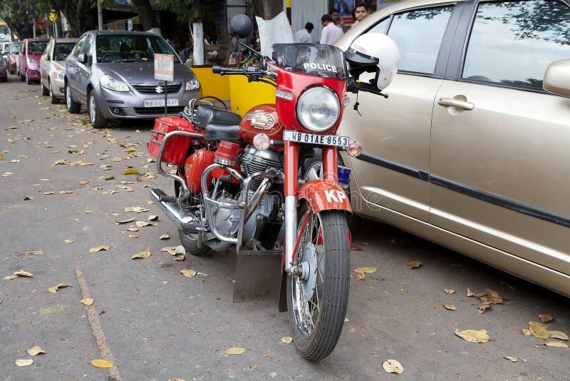 Μοτοσικλέτα αστυνομίας Kolkata, Kolkata, Ινδία στοκ φωτογραφίες με δικαίωμα ελεύθερης χρήσης