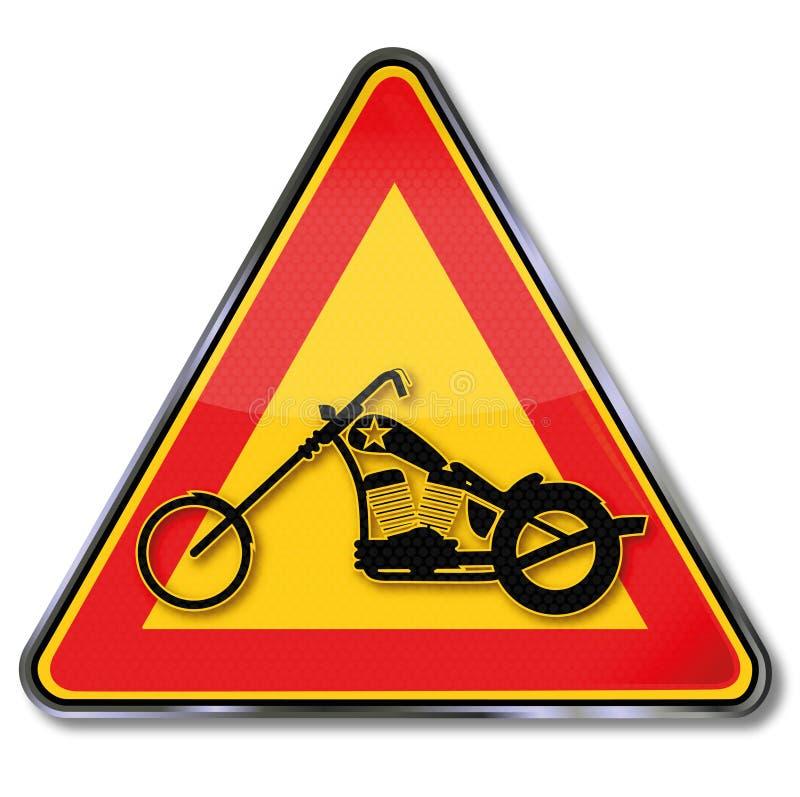 Μοτοσικλέτα, μπαλτάς και ελευθερία απεικόνιση αποθεμάτων