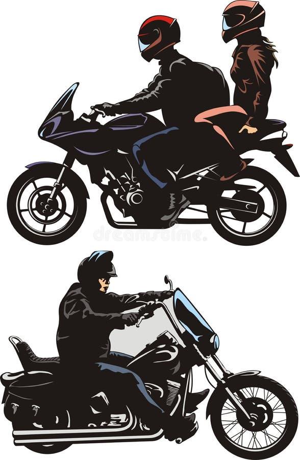 Μοτοσικλέτα στο δρόμο διανυσματική απεικόνιση