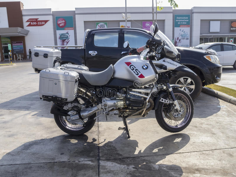 Μοτοσικλέτα της BMW GS Touratech στοκ εικόνες