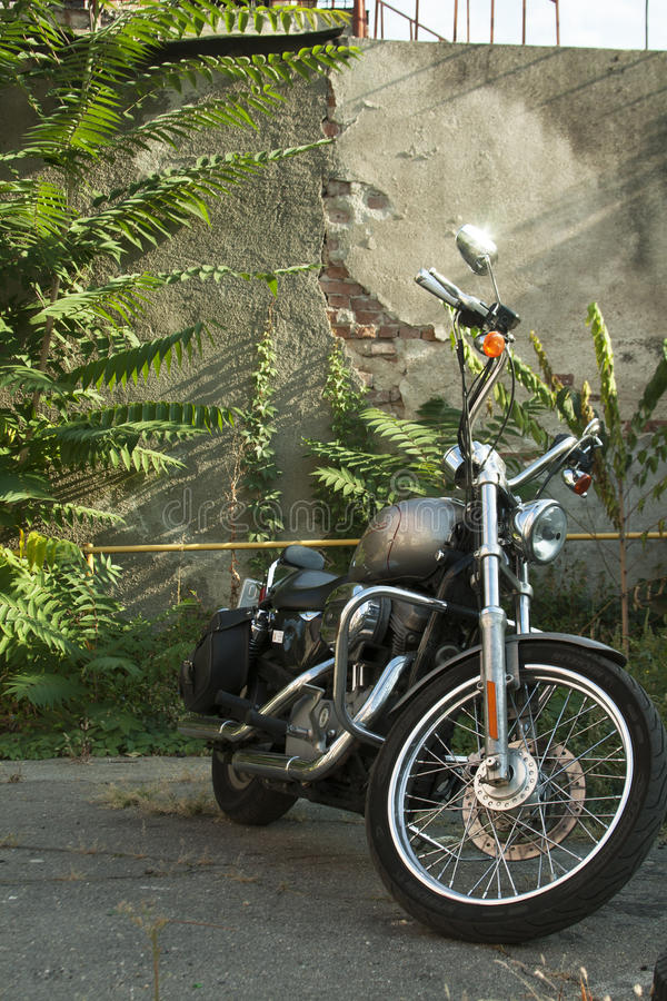 Μοτοσικλέτα του Harley υπαίθρια στοκ φωτογραφίες με δικαίωμα ελεύθερης χρήσης