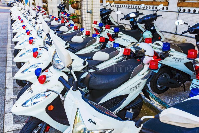 Μοτοσικλέτες αστυνομίας στη Ταϊπέι στοκ εικόνα με δικαίωμα ελεύθερης χρήσης