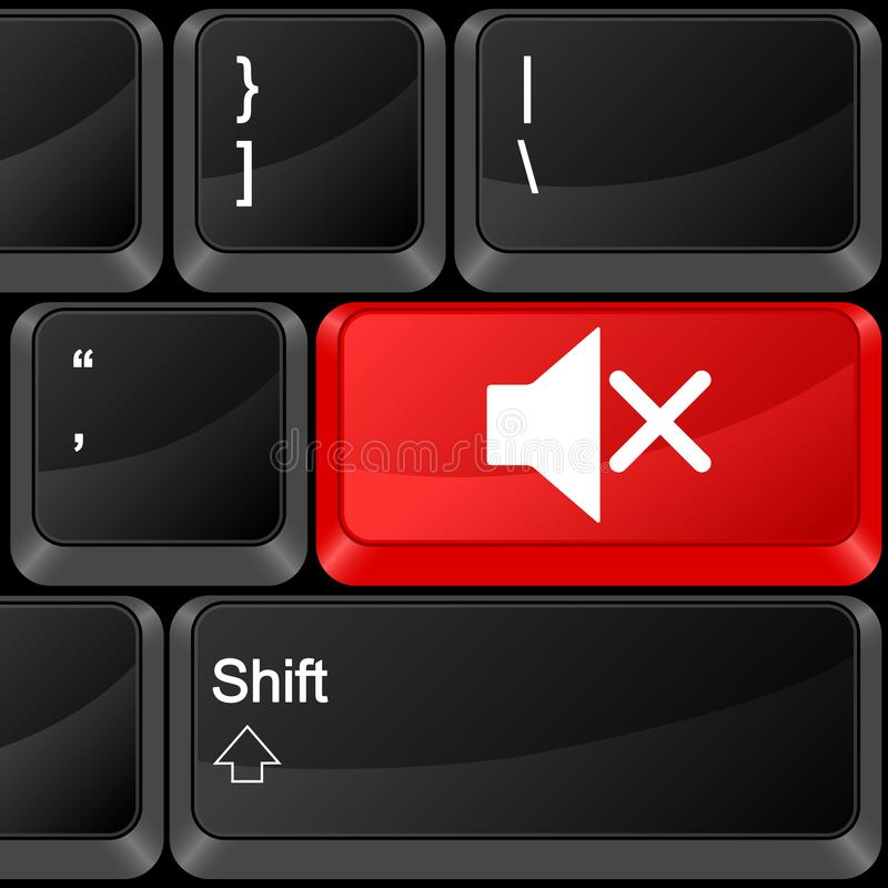 Μουγγός κουμπιών υπολογιστών απεικόνιση αποθεμάτων
