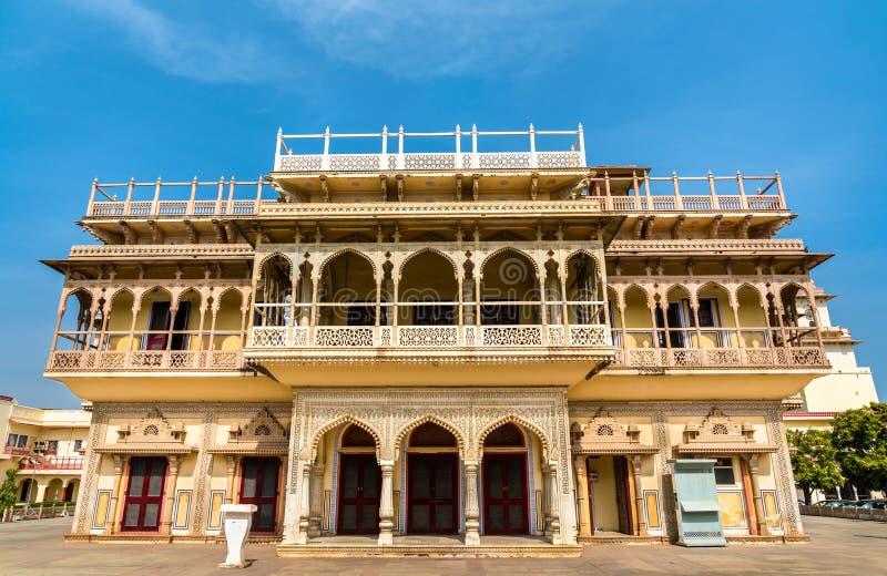 Μουμπάρακ Mahal στο παλάτι πόλεων του Jaipur - Rajastan, Ινδία στοκ φωτογραφία
