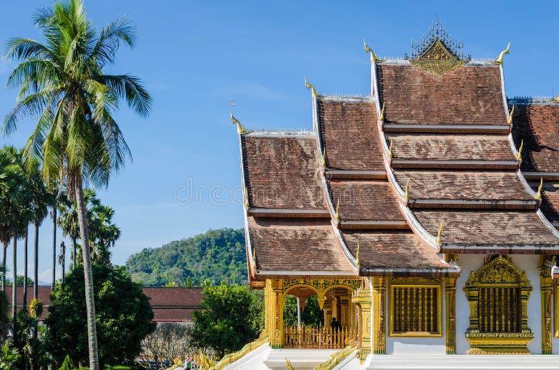 Μουσείο έθνους Prabang Luang σε Luang Prabang, Λάος στοκ φωτογραφία