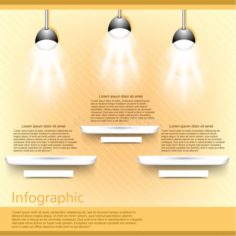 Μουσείο ή σύγχρονο infographic πρότυπο έκθεσης διανυσματική απεικόνιση