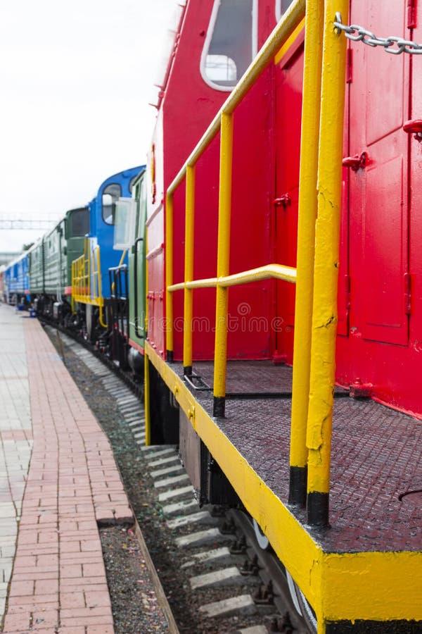 Μουσείο για την τεχνολογία Novosibirsk σιδηροδρόμων Παλαιά, σοβιετική ατμομηχανή σιδηροδρόμων NOVOSIBIRSK, ΡΩΣΙΑ στοκ φωτογραφίες με δικαίωμα ελεύθερης χρήσης