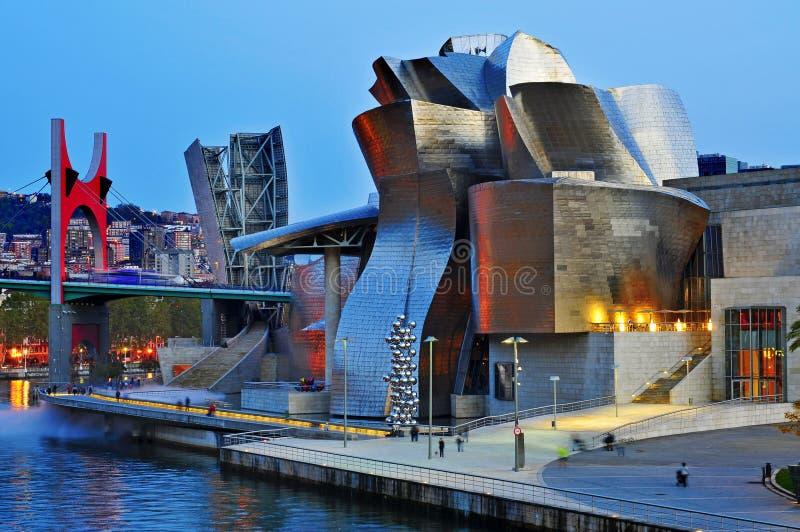 Μουσείο Γκούγκενχαϊμ στο Μπιλμπάο, Ισπανία στοκ εικόνες