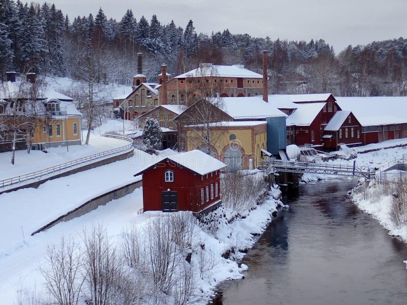 Μουσείο δυνατότητας σιδηρουργείων σε Iggesund - Hudiksvall στοκ εικόνες με δικαίωμα ελεύθερης χρήσης