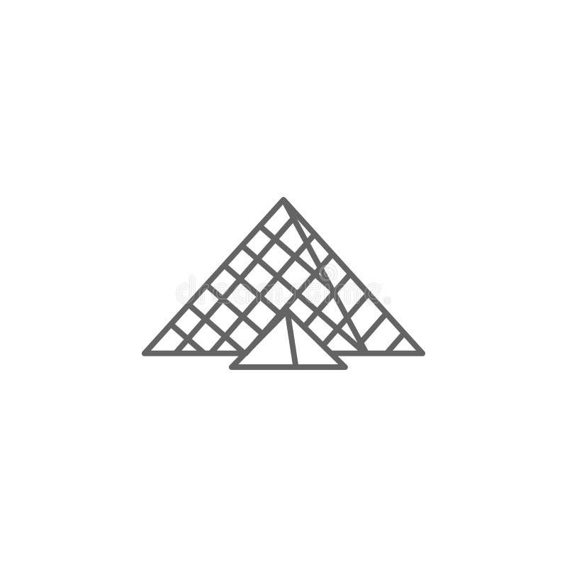 Μουσείο, εικονίδιο ανοιγμάτων εξαερισμού Στοιχείο του εικονιδίου του Παρισιού r απεικόνιση αποθεμάτων