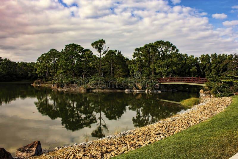 Μουσείο και ιαπωνική παραλία Φλώριδα Morikami Delray κήπων στοκ φωτογραφίες με δικαίωμα ελεύθερης χρήσης