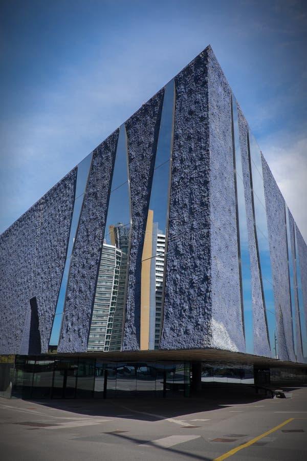 Μουσείο οικοδόμησης της Βαρκελώνης της σύγχρονης τέχνης στοκ φωτογραφία