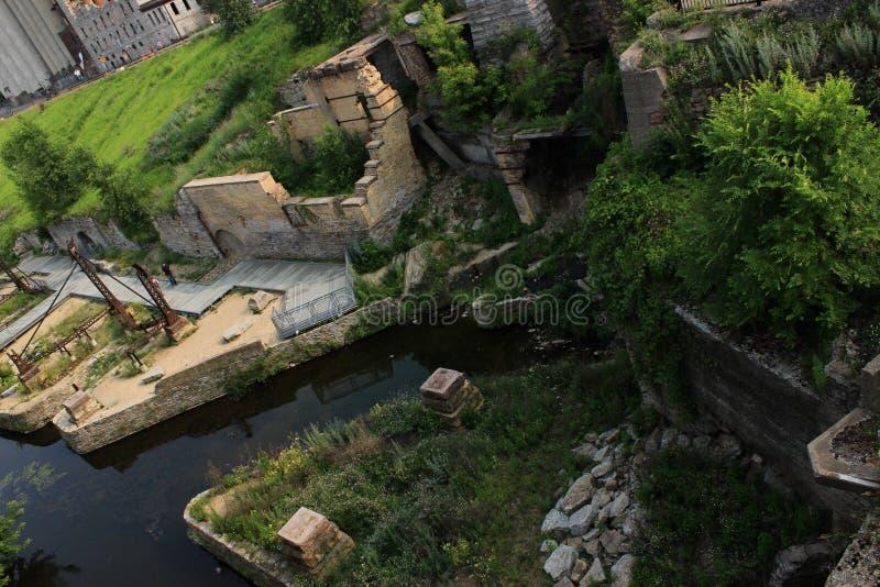 Μουσείο πόλεων μύλων στη Μινεάπολη στοκ φωτογραφίες