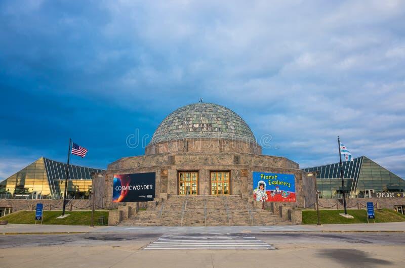 Μουσείο πλανηταρίων Adler, Σικάγο στοκ φωτογραφία με δικαίωμα ελεύθερης χρήσης