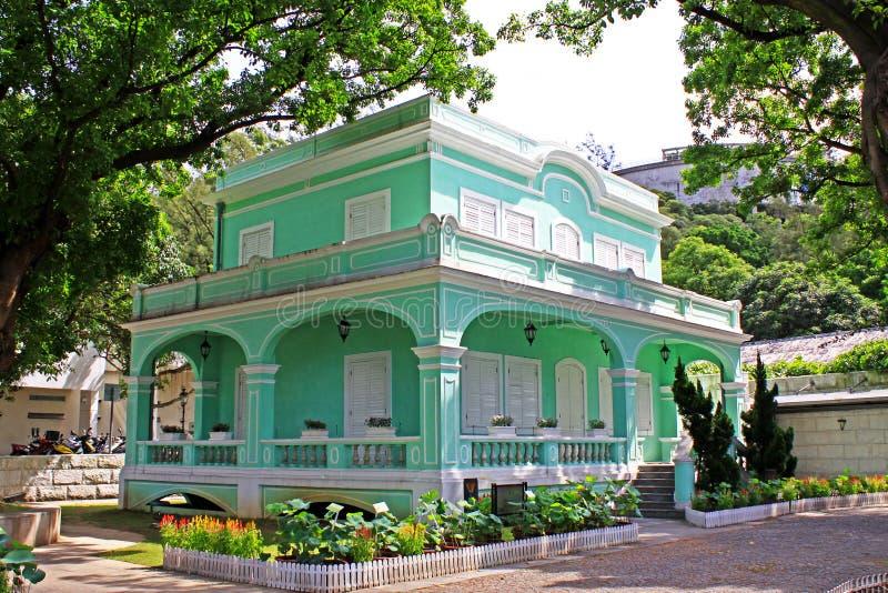 Μουσείο σπιτιών Taipa, Μακάο, Κίνα στοκ εικόνα με δικαίωμα ελεύθερης χρήσης