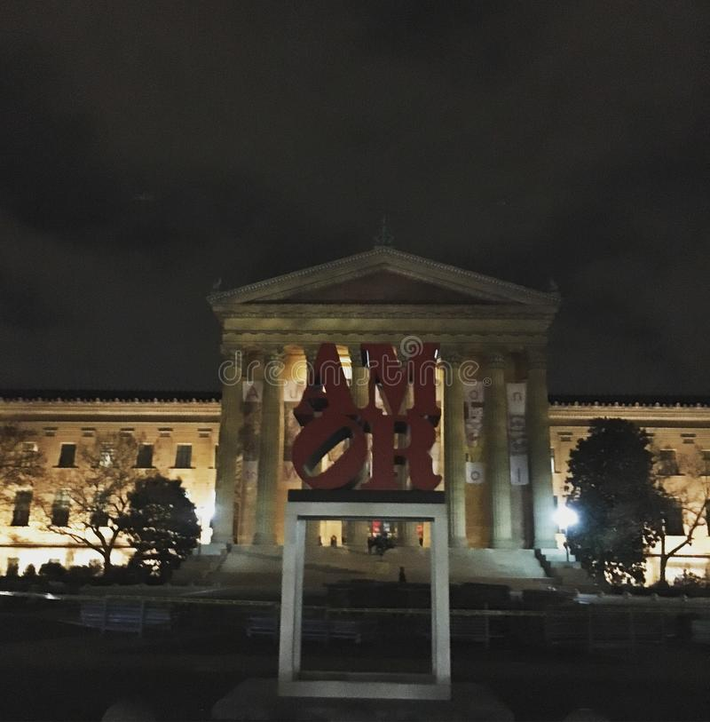 Μουσείο Τέχνης της Φιλαδέλφειας στοκ εικόνα με δικαίωμα ελεύθερης χρήσης