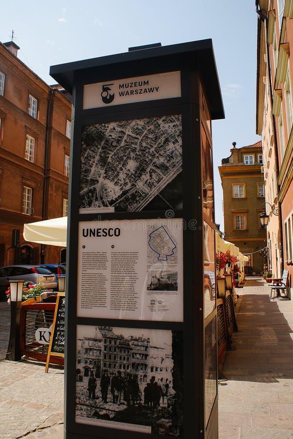 Μουσείο της Βαρσοβίας στις πληροφορίες της Πολωνίας στοκ εικόνες