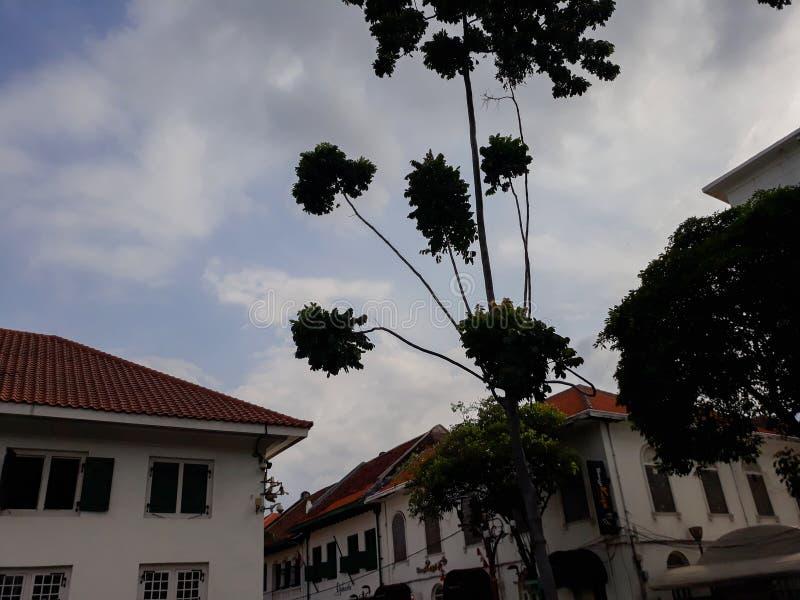 Μουσείο της Μπαταβίας στην παλαιά πόλη της Τζακάρτα ΤΖΑΚΑΡΤΑ, ΙΝΔΟΝΗΣΙΑ 01/2019 στοκ εικόνα με δικαίωμα ελεύθερης χρήσης