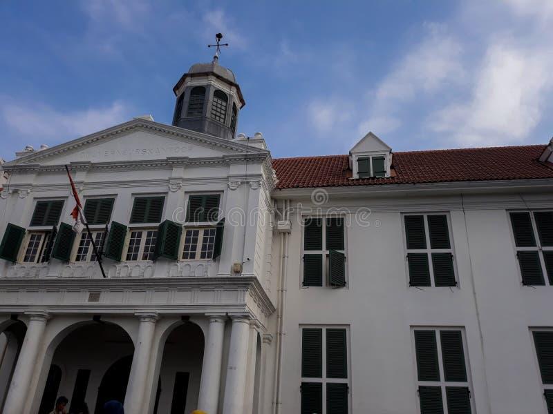Μουσείο της Μπαταβίας στην παλαιά πόλη της Τζακάρτα ΤΖΑΚΑΡΤΑ, ΙΝΔΟΝΗΣΙΑ 01/2019 στοκ φωτογραφία με δικαίωμα ελεύθερης χρήσης