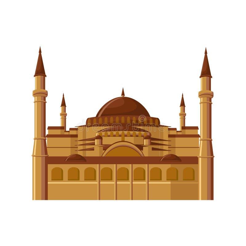 Μουσείο της Sophia Hagia στη Ιστανμπούλ, Τουρκία που απομονώνεται στο άσπρο υπόβαθρο απεικόνιση αποθεμάτων
