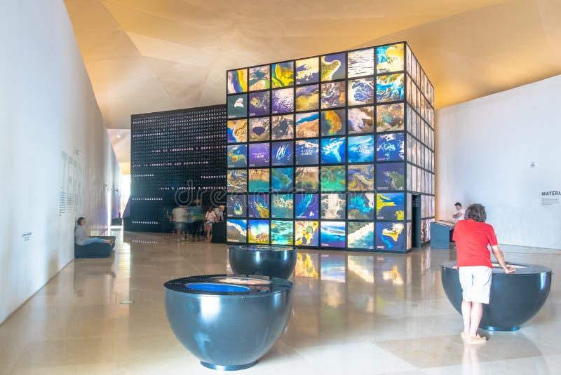 Μουσείο του αύριο ή Museu do Amanha του εσωτερικού - Ρίο ντε Τζανέιρο, Βραζιλία στοκ εικόνα