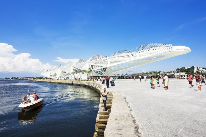 Μουσείο του αύριο (Museu do Amanha) στο Ρίο ντε Τζανέιρο, Βραζιλία στοκ φωτογραφία με δικαίωμα ελεύθερης χρήσης