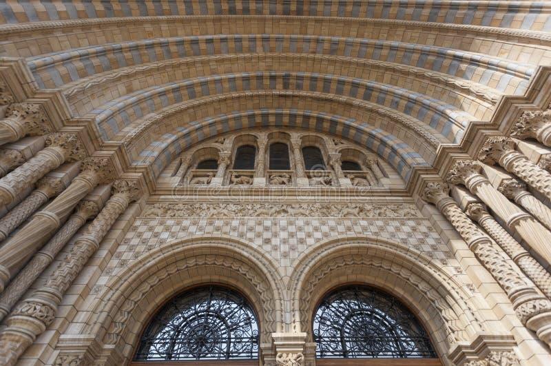 Μουσείο φυσικής ιστορίας στο Λονδίνο στοκ φωτογραφίες