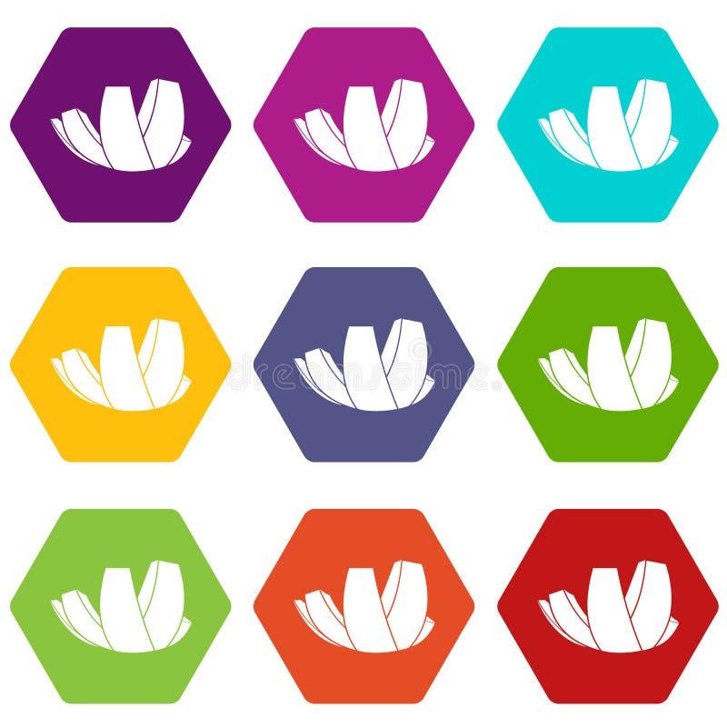 Μουσείο ArtScience στο καθορισμένο χρώμα εικονιδίων της Σιγκαπούρης hexahedron ελεύθερη απεικόνιση δικαιώματος