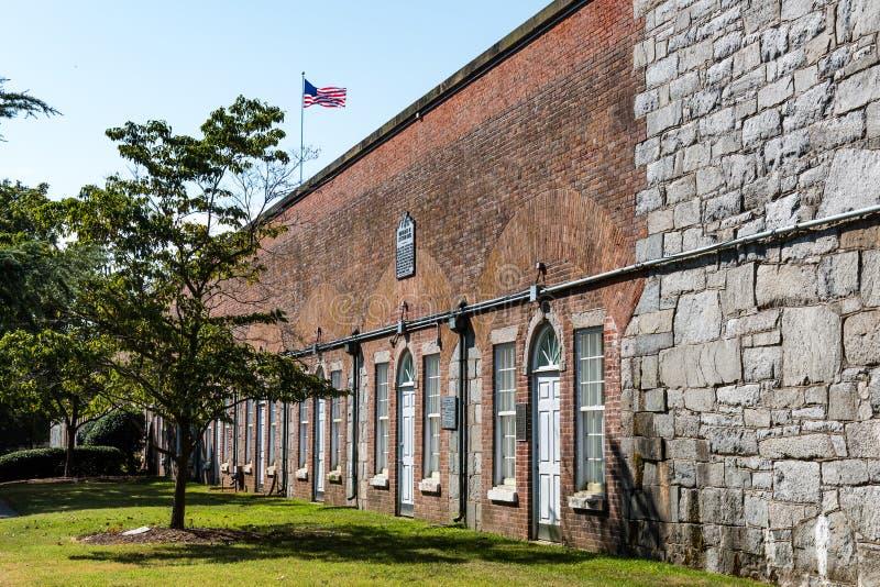 Μουσείο Casemate στο οχυρό Μονρόε σε Hampton, Βιρτζίνια στοκ εικόνες με δικαίωμα ελεύθερης χρήσης