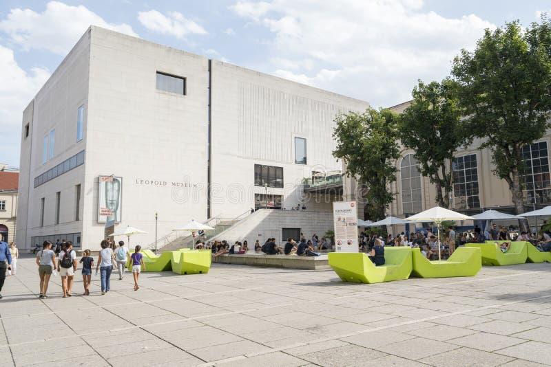 Μουσείο Leopold στη Βιέννη στοκ φωτογραφίες