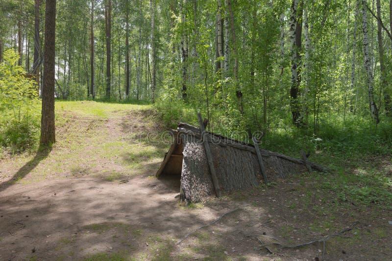 Μουσείο Taltsy της ξύλινης αρχιτεκτονικής, τον Ιούνιο του 2019, στρατόπεδο Evenk στοκ φωτογραφία με δικαίωμα ελεύθερης χρήσης