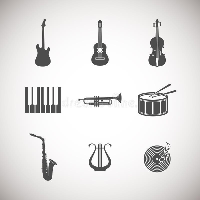 Μουσικά εικονίδια οργάνων διανυσματική απεικόνιση