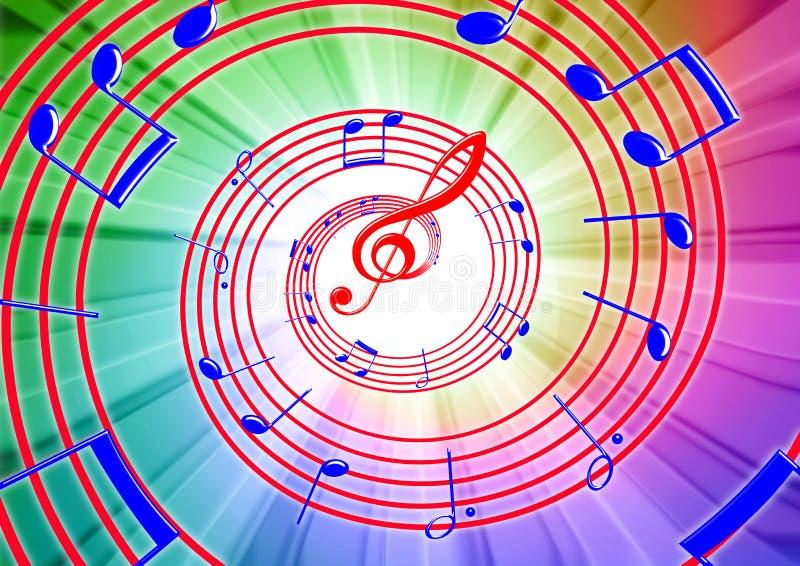 Μουσικές νότες διανυσματική απεικόνιση