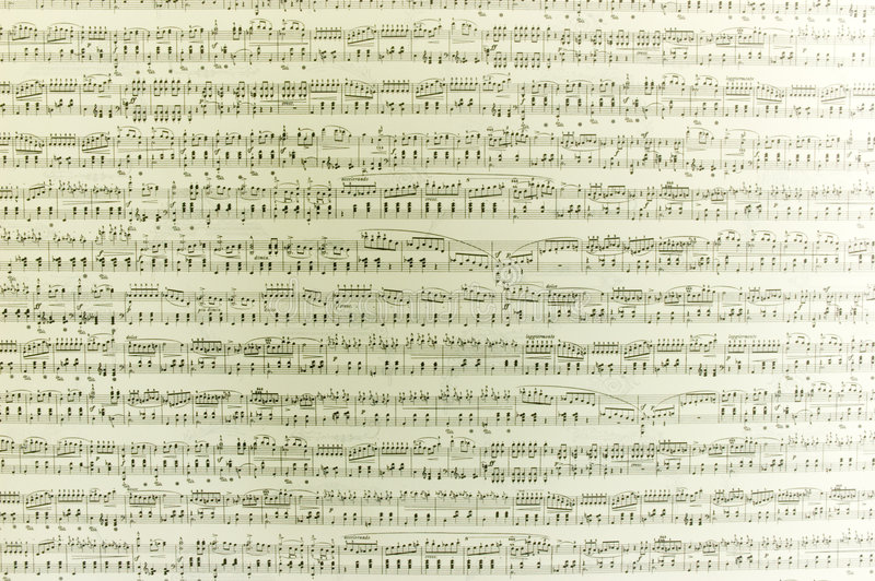 μουσικές νότες στοκ εικόνα