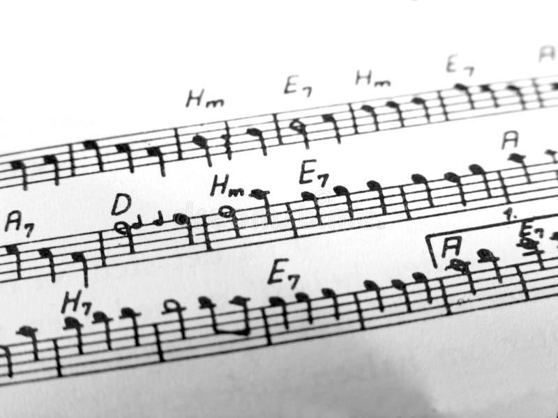 μουσικές νότες στοκ εικόνα με δικαίωμα ελεύθερης χρήσης