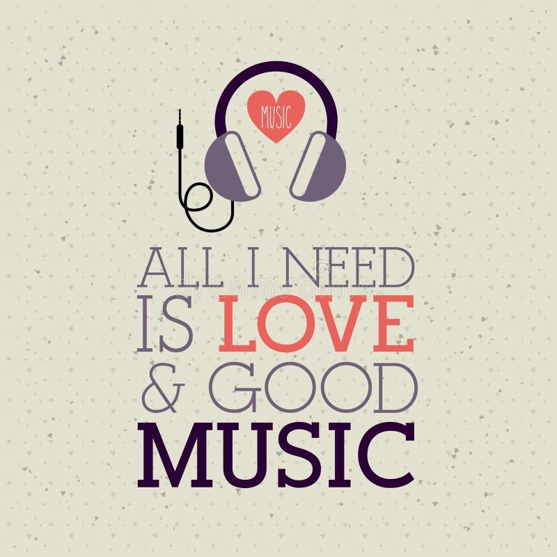 Μουσική αγάπης διανυσματική απεικόνιση