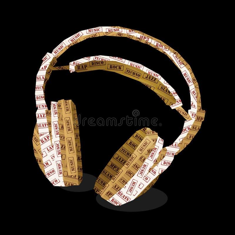 μουσική ακουστικών ελεύθερη απεικόνιση δικαιώματος