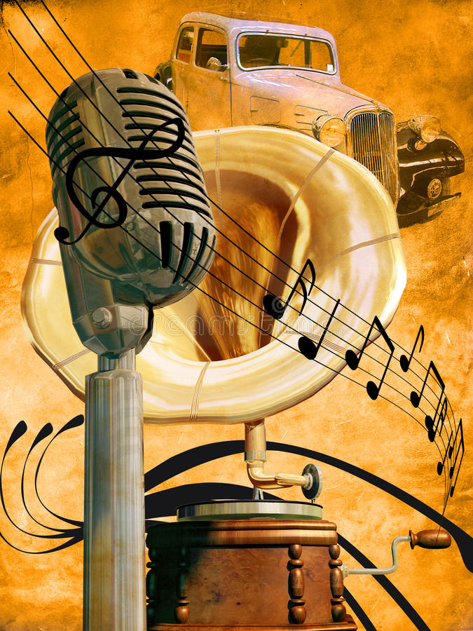 μουσική αναδρομική ελεύθερη απεικόνιση δικαιώματος