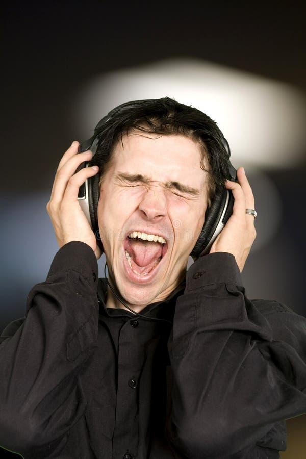μουσική ατόμων ακούσματος στοκ φωτογραφία