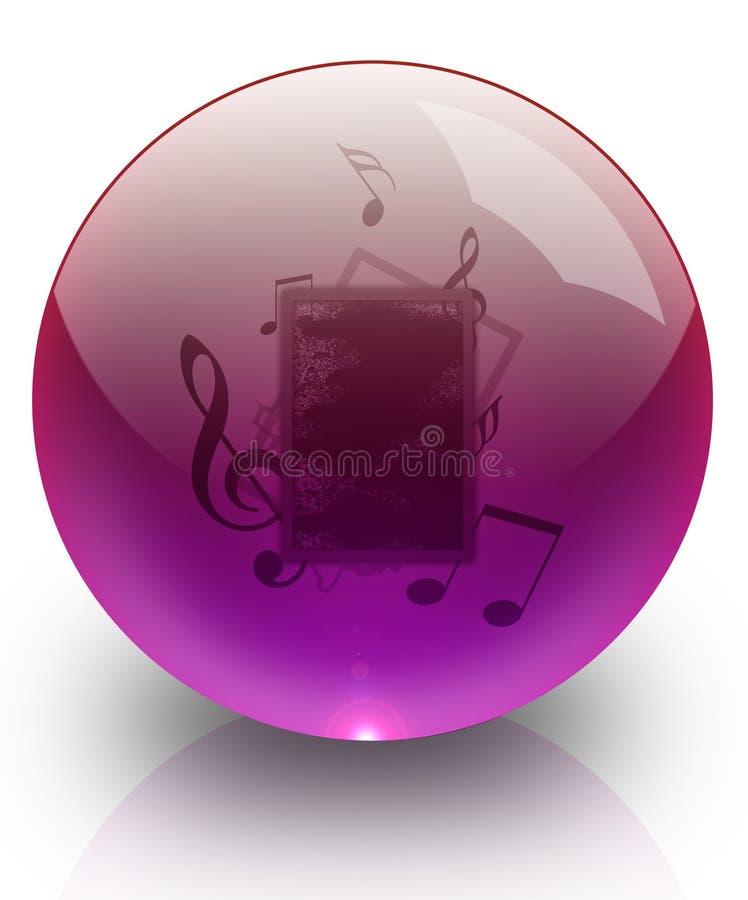 μουσική γυαλιού σφαιρών διανυσματική απεικόνιση