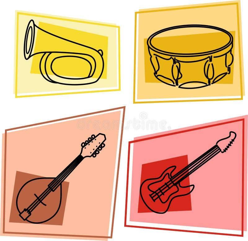 μουσική εικονιδίων διανυσματική απεικόνιση