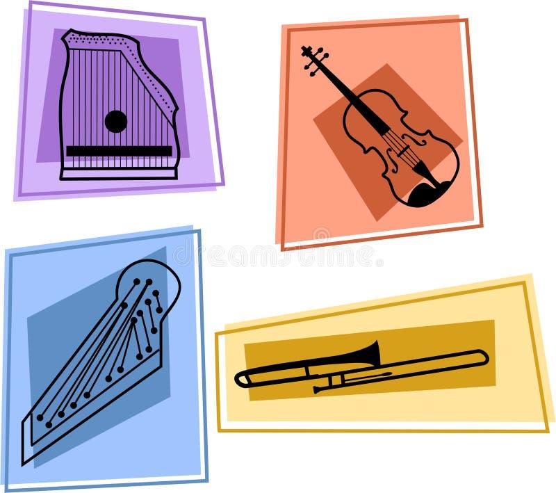 μουσική εικονιδίων απεικόνιση αποθεμάτων