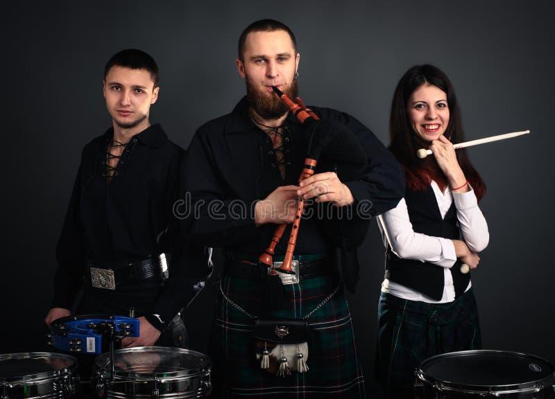 Σκωτσέζικη μουσική ζώνη στοκ φωτογραφία